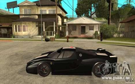 Ferrari FXX 2005 pour GTA San Andreas sur la vue arrière gauche