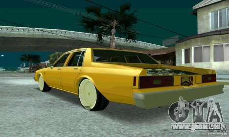 Chevrolet Impala 1977 Lowrider pour GTA San Andreas laissé vue