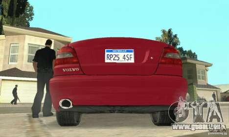 Volvo C70 1999 für GTA San Andreas Rückansicht