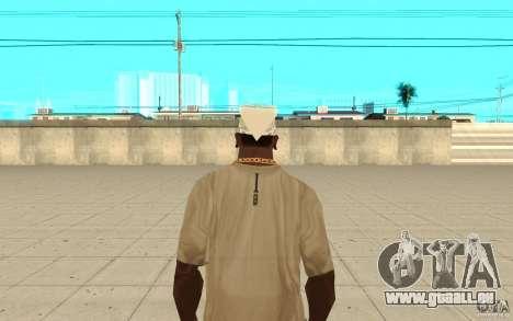 Bandana blanc pour GTA San Andreas troisième écran