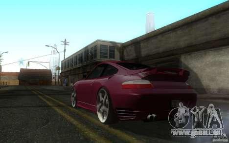 Ruf R-Turbo pour GTA San Andreas sur la vue arrière gauche