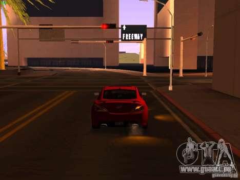 Hyundai Genesis Coupé 3.8 piste v1.0 pour GTA San Andreas vue de côté