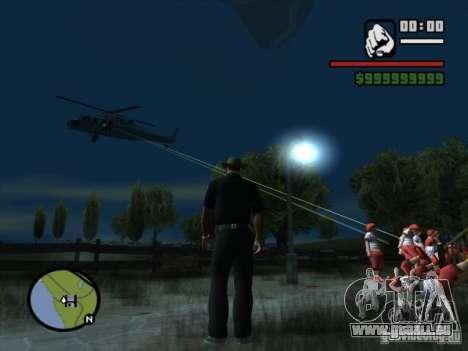 Appui aérien pour GTA San Andreas troisième écran