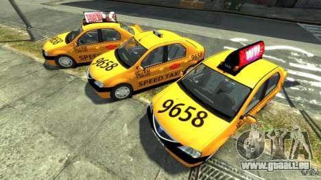 Dacia Logan Prestige Taxi pour GTA 4 est une vue de l'intérieur