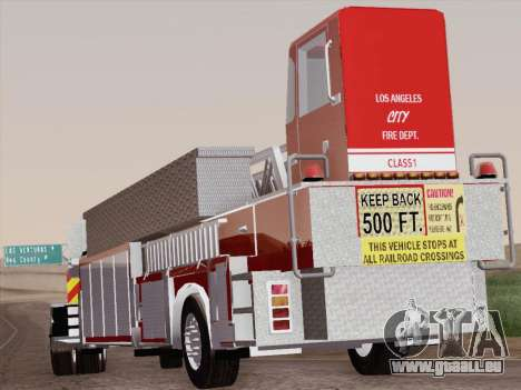 Pierce Arrow XT LAFD Tiller Ladder Trailer pour GTA San Andreas