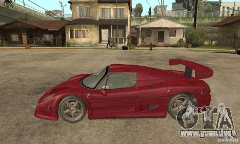 Ferrari F50 GT (v1.0.0) pour GTA San Andreas laissé vue