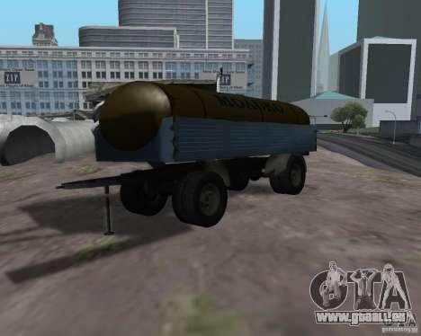 Remorque pour tanker lait Kamaz 53212 pour GTA San Andreas
