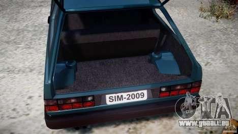 Volkswagen Gol GL pour GTA 4 est une vue de l'intérieur