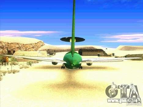 Boeing E-767 pour GTA San Andreas sur la vue arrière gauche