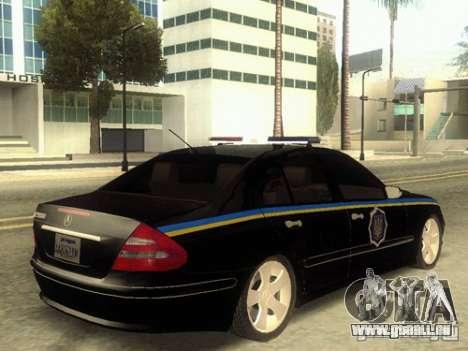 MERCEDES BENZ E500 w211 SE Polizei Ukraine für GTA San Andreas linke Ansicht
