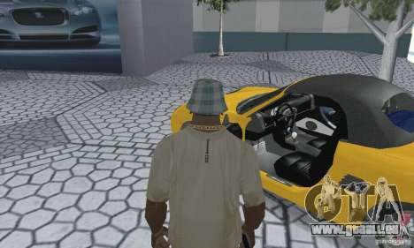 Porsche Boxster für GTA San Andreas Rückansicht