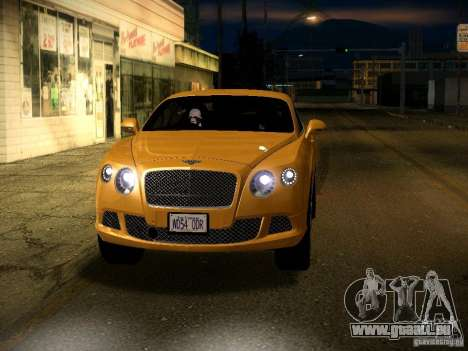 Bentley Continental GT 2011 pour GTA San Andreas vue de dessus