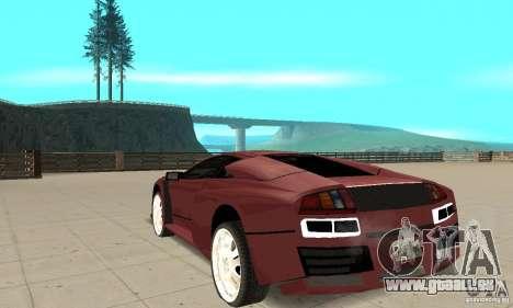 Lamborghini Murcielago Tuned pour GTA San Andreas sur la vue arrière gauche