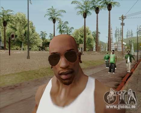 Braun brille Flieger für GTA San Andreas fünften Screenshot