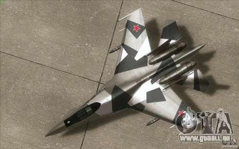 Su-35 BM v2. 0 für GTA San Andreas Innenansicht