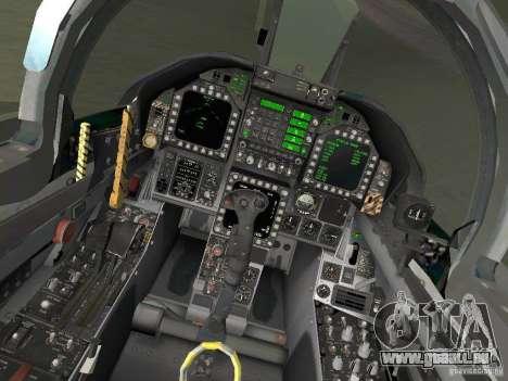 FA-18D Hornet für GTA San Andreas Rückansicht