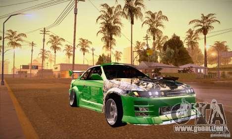 Nissan Silvia S13 für GTA San Andreas Rückansicht