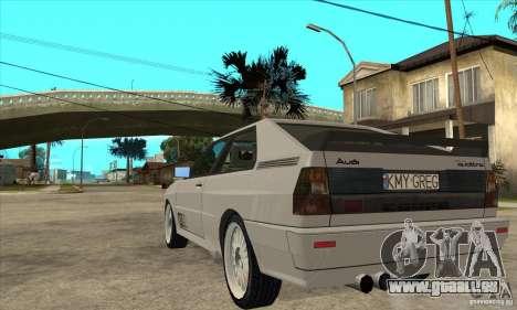 Audi Quattro pour GTA San Andreas vue de droite