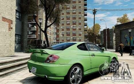 Hyundai Tuscani pour GTA 4 Vue arrière de la gauche