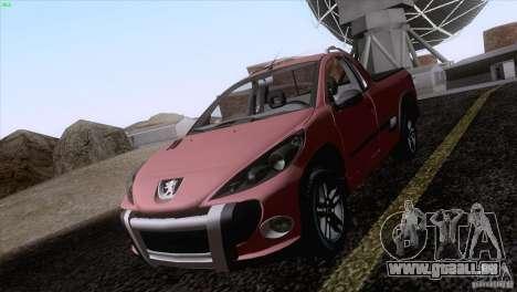 Peugeot Hoggar Escapade 2010 pour GTA San Andreas vue arrière