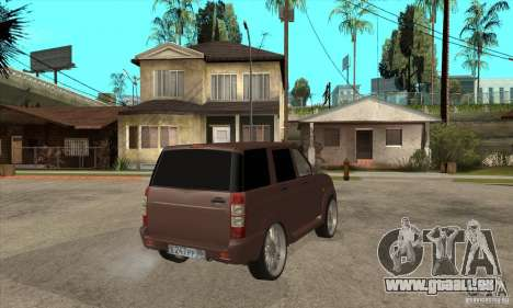 UAZ Patriot für GTA San Andreas Rückansicht
