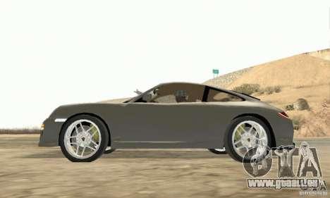 Porsche Carrera S 2009 pour GTA San Andreas vue de droite
