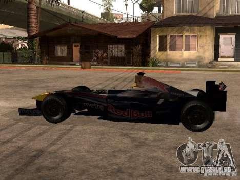 F1 Red Bull Sport pour GTA San Andreas laissé vue
