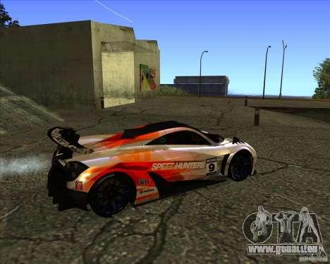 Pagani Huayra SHE pour GTA San Andreas sur la vue arrière gauche