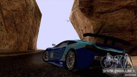 Malerei arbeitet McLaren MP4-12 C Speedhunters für GTA San Andreas zurück linke Ansicht