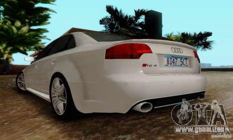 Audi RS4 2007 für GTA San Andreas Rückansicht