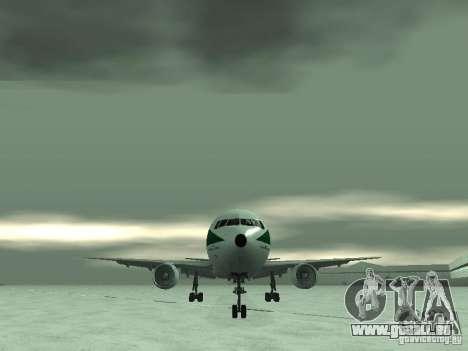 Boeing 767-300 Alitalia pour GTA San Andreas vue intérieure