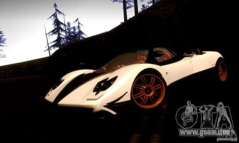 Pagani Zonda Tricolore V2 pour GTA San Andreas sur la vue arrière gauche