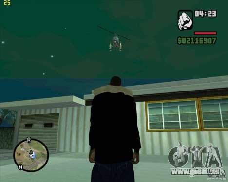 Aide de l'hélicoptère pour GTA San Andreas deuxième écran