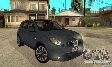 Nissan Qashqai 2011 für GTA San Andreas Rückansicht