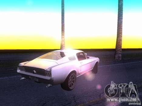 Ford Mustang 1967 GT Tuned pour GTA San Andreas vue de droite
