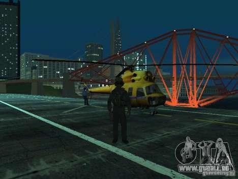 Mil Mi-2 Polizei für GTA San Andreas Rückansicht