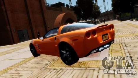 Chevrolet Corvette Grand Sport 2010 pour GTA 4 est un droit