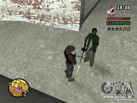 Ein Wachmann für die CJ mit miniganom für GTA San Andreas zweiten Screenshot