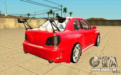 Subaru Impreza STI pour GTA San Andreas vue de côté