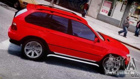 BMW X5 E53 v1.3 pour GTA 4 est une vue de dessous