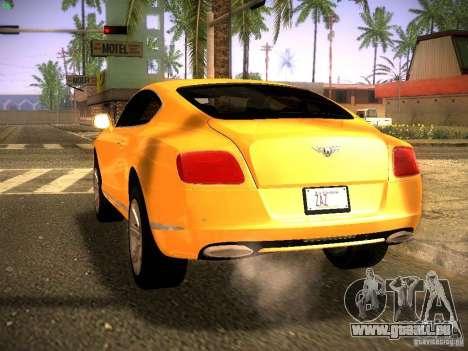 Bentley Continental GT 2011 für GTA San Andreas linke Ansicht