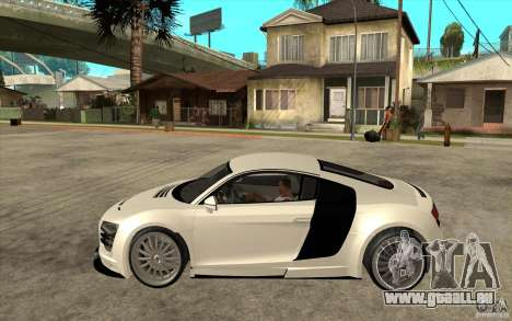 Audi R8 5.2 FSI custom pour GTA San Andreas laissé vue
