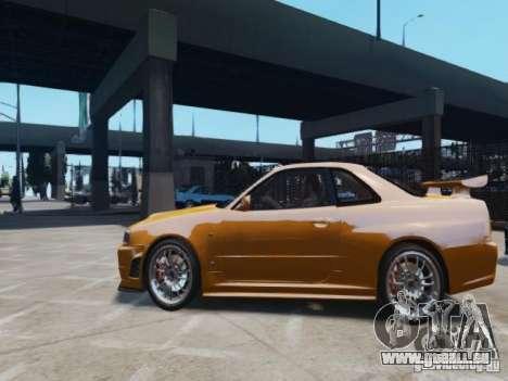Nissan Skyline GT-R R34 Fast and Furious 4 pour GTA 4 est une gauche