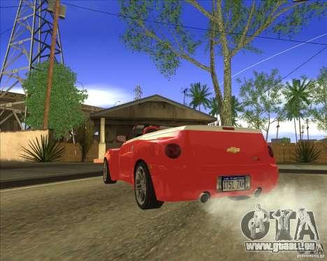 Chevrolet SSR pour GTA San Andreas sur la vue arrière gauche