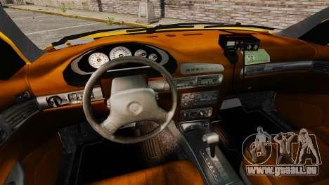 Dodge Intrepid 1993 Taxi pour GTA 4 Vue arrière