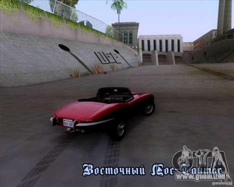 Jaguar E-Type 1966 pour GTA San Andreas vue de côté