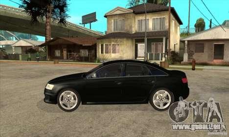 Audi RS6 2010 pour GTA San Andreas laissé vue