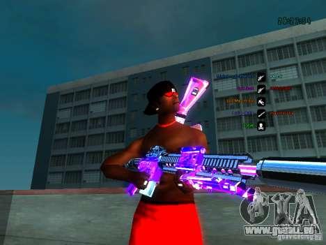 Purple chrome sur armes pour GTA San Andreas