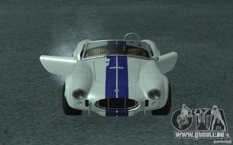 Shelby Cobra 427 pour GTA San Andreas sur la vue arrière gauche