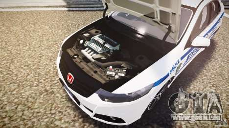 Honda Accord Type R NYPD (City Patrol 7605) ELS pour GTA 4 est une vue de dessous